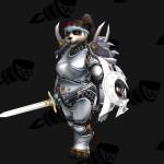 «Белая классика» со щитом, более подходящим при трансмогрификации воина вроде этой очаровательной и весёлой панды.