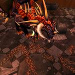 Эх, хотелось бы такого топового таланта в Warlords of Draenor, чтобы мобы и боссы сотого уровня ложились бы примерно также…
