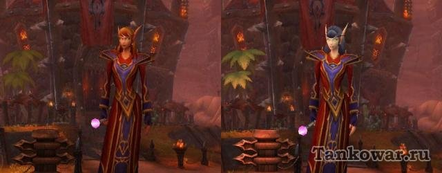 Блад эльфовские модели персонажей Warlords of Dreanor стали ощутимо ярче.