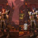 Модель мужского персонажа эльфа крови в Пандарии и в Warlords of Draenor.