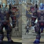Слева – модель пандарийского персонажа, справа - модель персонажа Warlords of Draenor.