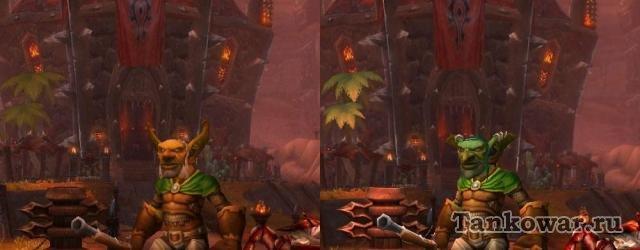 На первый взгляд, разница в моделях персонажей Warlords of Draenor и Пандарии на гоблине не так уж очевидна. Но на второй – весьма заметна.