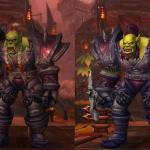 Слева – персонаж из «Пандарии», справа – модель персонажа Warlords of Draenor.