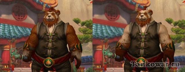 В Warlords of Draenor модели персонажей лиц пандовской национальности остались неизменны.