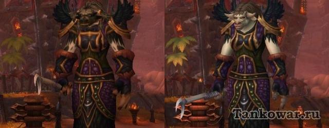 Тауренки в Warlords of Draenor уже меньше коровки. Больше всё-таки женщины.