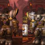 Тауренские модели персонажей Warlords of Draenor отличаются более детальной проработкой черт морды лица.