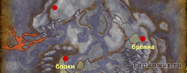 Карта гарнизонных сокровищ Дренора.