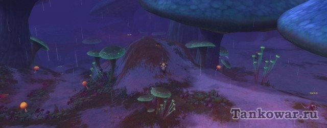 Вот под этими ядовитыми грибочками и скрывается посох Варгота.