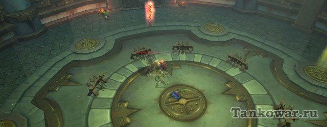 Заклинатель на 8-ой волне бесконечной арены испытаний Дренора появляется прямо в красной метке.