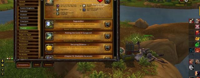 Вот так должна выглядеть панелька достижения «Хранитель мудрости Дренора» после завершения всех сюжетных линий.