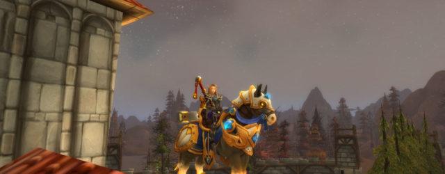 Паладины, знающие как получить классового маунта в Легионе, рассекают на таких вот лошадках.