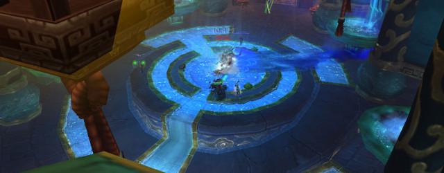 На заднем плане видно, как наказывает Храм нефритовой змеи за несоблюдение тактики.