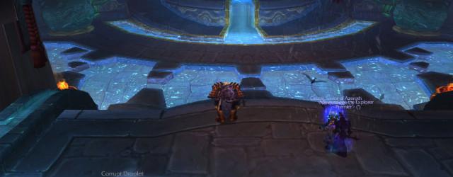 Первый босс Храма нефритовой змеи обдумывает тактику перед боем.