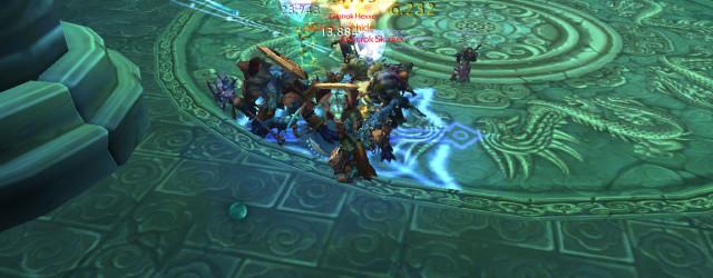 Картина маслом, художник - World of Warcraft: дворец Могушан, битва с бандформированием Геккона.