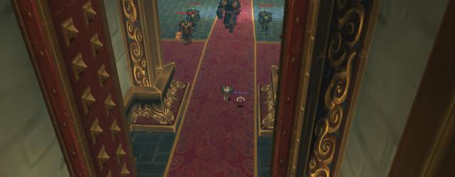 Патруль в зале Мастера Боя Синь.
