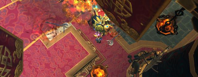 Синь Мастер Боя взорвал за своей спиной огненное кольцо. Видно, как кто-то наслаждается полётом…