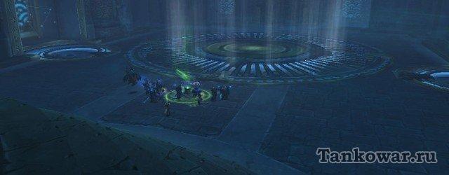 Рейд «Осада Оргриммара» - площадка для боя с третьим боссам. Примерно между кругом слева и Нарусхеном и появляется одна из сфер – путёвка во Внутренний мир.
