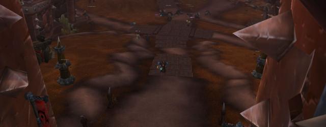 Площадь после зачистки – остались только боссы коркронских тёмных шаманов.