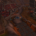 Если всё делать по тактике, то битва с Коркронскими тёмными шаманами заканчивается примерно здесь (вид с другой стороны дорожки).