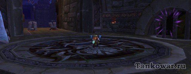 Фиолетовые лучики справа - это и есть портал животворящий, позволяющий выжить после выполнения «Духа повелителя гроз».
