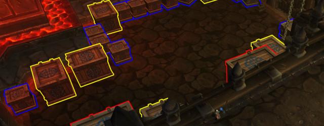 Пандарийские трофеи: схема комнаты Могу (ящики панд и некоторые мелкие не видны).