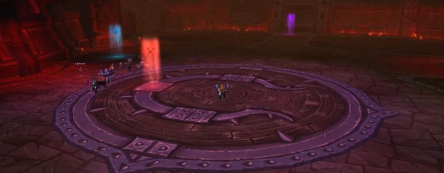 Фиолетовая метка обозначает место, где должен находиться дамагер в момент появления примкнувшего к Гарошу инженера.