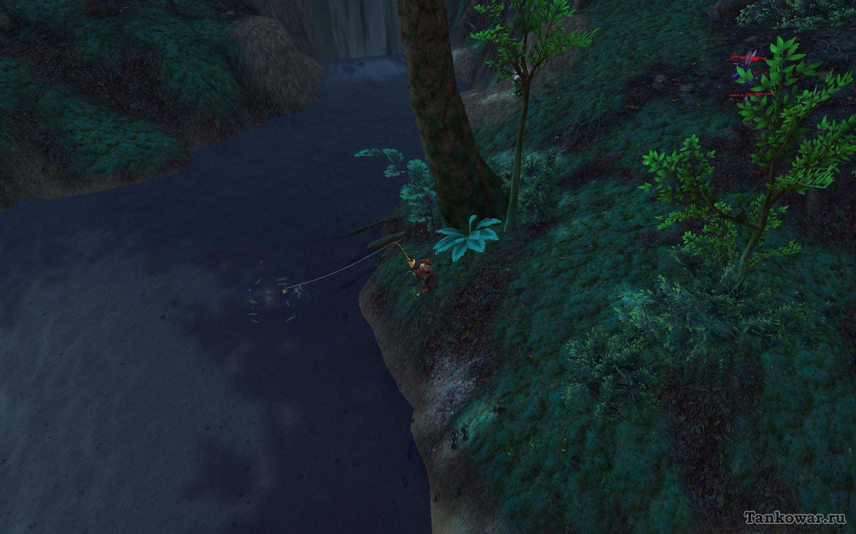 Косяк веслоносов возле водопада тоже поможет созданию тележек с вкусной и полезной лапшой.
