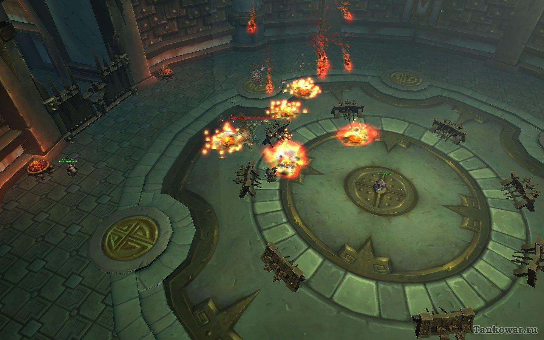 Заклинатель празднует своё появление на арене испытаний грандиозным огненным фейерверком. Ничего, пускай покуражится - не долго ему осталось…