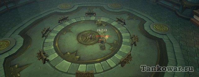 Разбойник на 7-ой волне появляется с левой стороны арены испытаний (если стоять к воротам лицом).