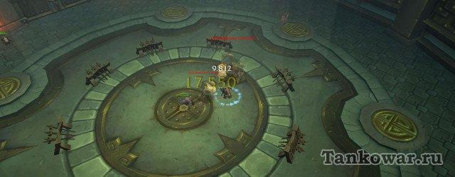 На 8-ой волне первые мобы нарисовываются с правой стороны арены.